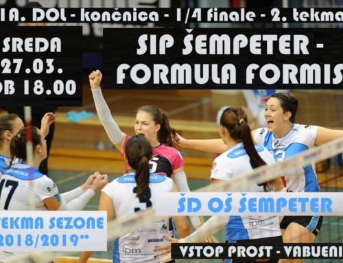 Vabilo – 1/4 finale DP za ženske